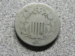 1868 Shield Nickel - DECENT