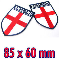 1 x England Flag St George's Cross Embroidered Iron On Patch EURO British London