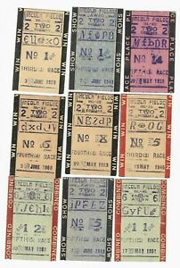 OLD COLLECTION OF LINCOLN FIELDS HORSE RACING TICKETS - RHODE ISLAND