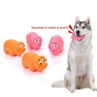 Pet Dog Puppy Molar Teeth Latex Chew Toy Cute Squesker Honking Pig Shape Toys
