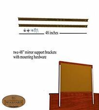 "Heavy Duty Dresser Mirror Installation Brackets w/ Mounting Hardware (48"")"