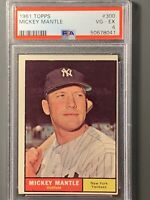 1961 Topps #300 Mickey Mantle PSA 4 New York Yankees HOF