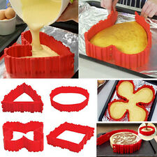 4pcs/set DIY Silicone Cake Baking Square Round Shape Mold Magic Bake Snakes
