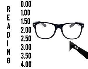 Reading Glasses 0.0 to 3.5 Unisex Mens Ladies Designer Fashion Square Spring