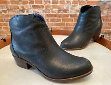 Lucky Brand Black Leather Belia Ankle Boot Bootie 13 W New