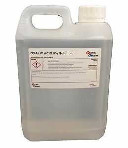 Oxalic Acid 5% Solution 2L Jerry Bleaching / Stain Removal / Rust Remover