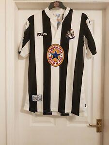 1995-1996 Newcastle United Home Shirt Short Sleeved Shearer 9 Shirt Adidas...