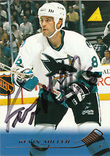 KEVIN MILLER SHARKS AUTOGRAPH AUTO 95-96 PINNACLE #146 *26053