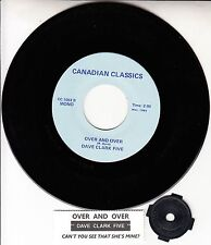"""DAVE CLARK FIVE  Over And Over 7"""" 45 rpm vinyl record + juke box title strip NEW"""