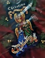 1997 NIP Gold Collection Counted Cross Stitch Kit Herald Angels Stocking 7357F