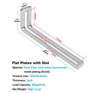 10Pcs  Adjustable L-Shape Corner Brace Slotted Metal Joint Right Angle Bracket
