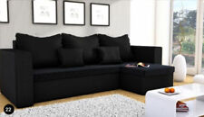 REVERSIBLE CORNER SOFA BED MOJITO IN  BLACK. WITH STORAGE.