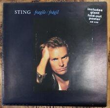 """STING - Fragile ~7"""" Vinyl Single *GIANT Poster Sleeve*"""