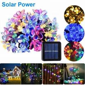 50 100 LED Solar Power Flower Fairy String Lights Outdoor Party Garden Lights