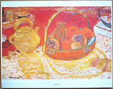 Pierre Bonnard Yellow and Red Still1st Prnt Out of Print Ltd. Ed Orig 1960 Litho