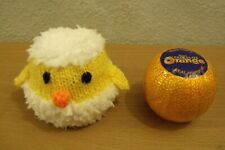 KNITTING PATTERN AND WOOL FOR  HATCHING CHICKEN IN EGG CHOCOLATE ORANGE COVER