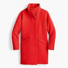 NWT J Crew Cocoon Coat in Stadium Cloth Wool Red Size 0