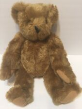 """Authentic Vermont Teddy Bear 15"""" Handmade In Vermont Jointed Vintage Fast Ship"""