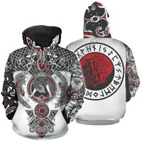 Viking Tattoo 3D print Hoodie Hot Mens Womens Casual Sweatshirt Pullovers Tops