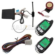 2 Way Motorcycle Alarm With Remote Engine Start Stop and Colorful LCD Display