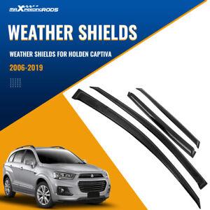 4x Weather Shields Window Visors fit Holden Captiva 5 7 2006-2018 Wind Deflector