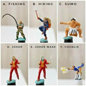 Miniature Figure Sumo,Joker,Fishing,Hiking,Chunlie H0 Scale 1/87 or 1/64