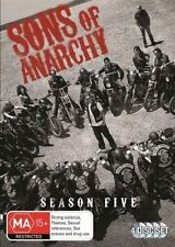SONS OF ANARCHY (COMPLETE SEASON 5 DVD SET SEALED + FREE POST)