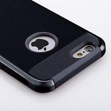 Iphone 5S case, Black Armor Hybrid Shockproof Hard Rugged Heavy DutyCoverCase.