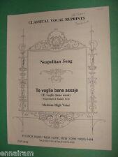 Te Voglio Bene Assaje Neapolitan song med high Italian Ti Voglio Bene Assai