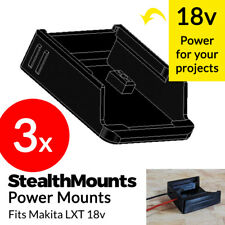 3x Pack Stealth PowerMounts for Makita LXT 18v Battery Terminal Connector