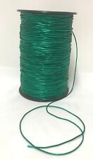 Hat Elastic Green Glitter Metallic Round 2mm 457m Full spool Bulk Christmas