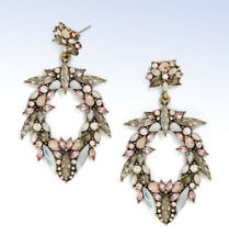 BAUBLEBAR Antiqued Gold-Tone 'Nevaeh' Crystal Cluster Drop EARRINGS