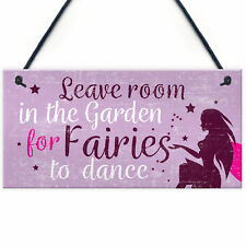 Garden Sign Shed Plaque Leave Room For Fairies SummerHouse Sign Friendship Gift