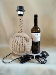 Nautical Rope Ball table lamp   (monkey fist)