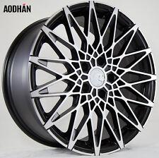 AODHAN LS001 18X8 +15 5X114.3 BLACK MACHINE RIM FIT LEXUS GS400 LS400 SC400