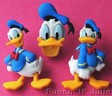 DONALD DUCK Animal Bird Children Disney Dress It Up Novelty Craft Buttons