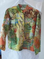 Chico's Lightweight Multi-colored Jacket Size 0 Silk Blend
