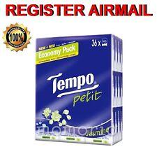 36 packs Jasmine Tempo Petit Pocket Tissues Paper 4 ply handkerchiefs flower
