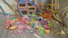 Littlest Pet Shop lot case stage dog cat hamster wheels accessories bags