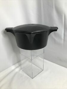 Pampered Chef Micro Cooker Microwave Steamer Large 8 Cup 2 Quart #2778 Black USA