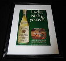 1984 Paul Masson Light Chablis Framed 11x14 ORIGINAL Vintage Advertisement