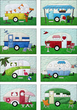 CAMPERS Laser Cut Fabric Kit and Pattern by Amy Bradley Designs Fusible Applique