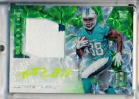 LEONTE CARROO  2016 Panini Spectra RPA Green RC AUTO 2 Clr PATCH /25 Dolphins RC