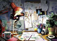 Ravensburger Disney Pixar The Artist's Desk Jigsaw Puzzle 1000 Piece New Sealed