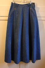 Vintage Ralph Lauren Country Jean Denim Fit & Flare Skirt Prairie Modest Size 10