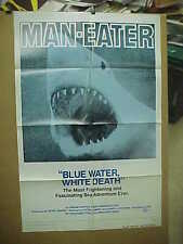 BLUE WATER, WHITE DEATH, 1974 reissue 1-sh / movie poster [shark documentary]