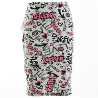Girls Kids Pink Graffiti Pencil Skirt Party Dress Comic Age 7 8 9 10 11 12 13