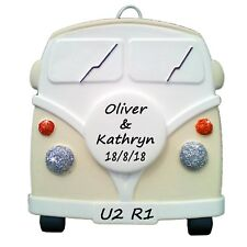 VW style Camper Van - Personalised in CREAM - Wedding Gifts  - Truly for You