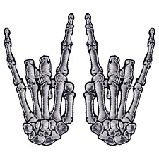Kreepsville 666 White Skeleton Devil Fingers Patch Metal Punk Zombie Horror