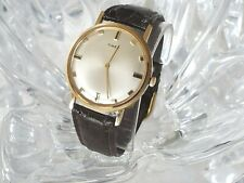 Rare Vintage Timex Ultra Thin Mens Watch 5160 2368 Silver Dial Leather Band